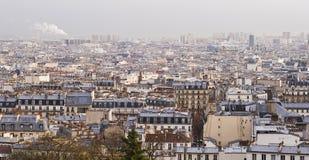 πανόραμα Παρίσι επισκόπηση&sig Στοκ φωτογραφία με δικαίωμα ελεύθερης χρήσης