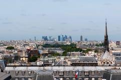 πανόραμα Παρίσι κυρίας notre Στοκ Φωτογραφία