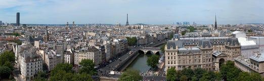 πανόραμα Παρίσι κυρίας notre Στοκ φωτογραφίες με δικαίωμα ελεύθερης χρήσης