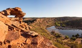 Πανόραμα παραθύρων φύσης ` s, εθνικό πάρκο Kalbarri, δυτική Αυστραλία Στοκ Εικόνες