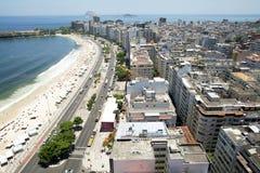Πανόραμα παραλιών Copacabana Στοκ Εικόνα