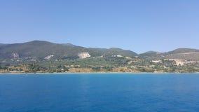 Πανόραμα παραλιών Navagio, Ζάκυνθος, Ελλάδα Στοκ φωτογραφία με δικαίωμα ελεύθερης χρήσης
