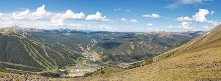Πανόραμα περιοχής σκι βουνών χαλκού στοκ εικόνα με δικαίωμα ελεύθερης χρήσης