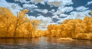 Πανόραμα ποταμών της Apple στο υπέρυθρο χρώμα Στοκ Εικόνες