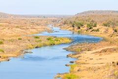 Πανόραμα ποταμών Olifants από την άποψη στρατόπεδων Satara, Kruger Natio στοκ εικόνα με δικαίωμα ελεύθερης χρήσης