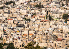 Πανόραμα που αγνοεί την παλαιά πόλη μερών της Ιερουσαλήμ, Ισραήλ ως β Στοκ Εικόνα