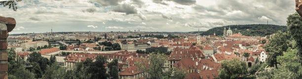 Πανόραμα που πυροβολείται από το κάστρο της Πράγας Στοκ Εικόνα