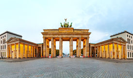 Πανόραμα πυλών του Βραδεμβούργου στο Βερολίνο, Γερμανία Στοκ Εικόνες
