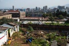 Πανόραμα πόλεων, Αντίς Αμπέμπα, Αιθιοπία Στοκ Φωτογραφίες