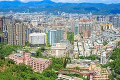 Πανόραμα πόλεων της Ταϊπέι Στοκ εικόνα με δικαίωμα ελεύθερης χρήσης