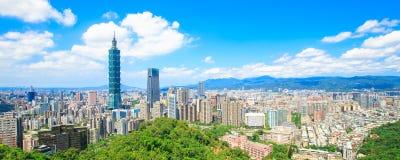 Πανόραμα πόλεων της Ταϊπέι Στοκ φωτογραφίες με δικαίωμα ελεύθερης χρήσης