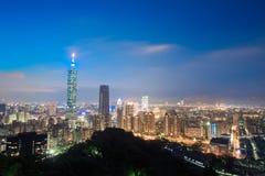 Πανόραμα πόλεων της Ταϊπέι Στοκ Εικόνες