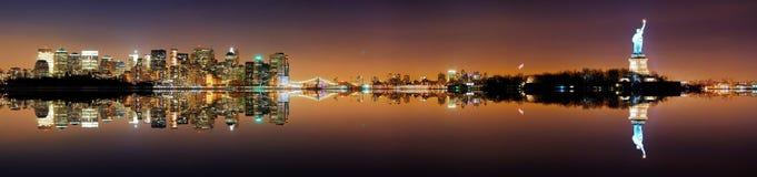 Πανόραμα πόλεων του Μανχάτταν, Νέα Υόρκη Στοκ φωτογραφία με δικαίωμα ελεύθερης χρήσης