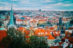 Πανόραμα πόλεων Τσεχιών, Πράγα Πανοραμική άποψη της Πράγας πόλεων Στοκ Εικόνα
