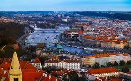 Πανόραμα πόλεων Τσεχιών, Πράγα Πανοραμική άποψη της Πράγας πόλεων Στοκ Φωτογραφίες