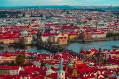 Πανόραμα πόλεων Τσεχιών, Πράγα Πανοραμική άποψη της Πράγας πόλεων Στοκ Φωτογραφία