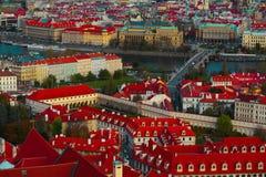 Πανόραμα πόλεων Τσεχιών, Πράγα Πανοραμική άποψη της Πράγας πόλεων Στοκ φωτογραφίες με δικαίωμα ελεύθερης χρήσης
