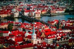 Πανόραμα πόλεων Τσεχιών, Πράγα Πανοραμική άποψη της Πράγας πόλεων Στοκ εικόνες με δικαίωμα ελεύθερης χρήσης