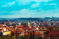Πανόραμα πόλεων Τσεχιών, Πράγα Πανοραμική άποψη της Πράγας πόλεων Στοκ Εικόνες