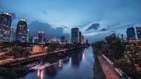 Πανόραμα πόλεων της Τζακάρτα Στοκ Φωτογραφίες