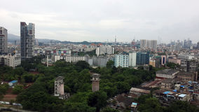 Πανόραμα πόλεων Guangzhou στοκ εικόνες με δικαίωμα ελεύθερης χρήσης