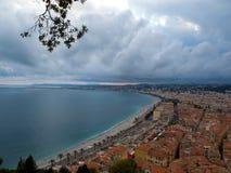 """Πανόραμα σε Nizza Υπόστεγο δ """"azur Γαλλία στοκ φωτογραφία με δικαίωμα ελεύθερης χρήσης"""