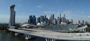 πανόραμα Σινγκαπούρη πόλε&omeg στοκ εικόνα