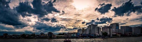 Πανόραμα σκηνής της Μπανγκόκ Στοκ Φωτογραφία