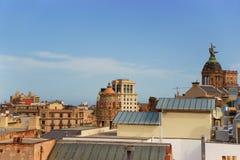 Πανόραμα στην περιοχή Eixample της Βαρκελώνης Στοκ Φωτογραφία