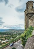 Πανόραμα στην πόλη Aubenas στην περιοχή Ardeche στη Γαλλία Στοκ Εικόνες