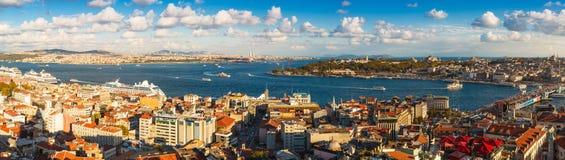 Πανόραμα στη Ιστανμπούλ, Τουρκία Στοκ εικόνες με δικαίωμα ελεύθερης χρήσης