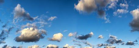 πανόραμα σύννεφων Στοκ Φωτογραφίες