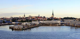 πανόραμα Ταλίν αυγής Στοκ φωτογραφία με δικαίωμα ελεύθερης χρήσης