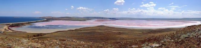 Πανόραμα της λίμνης λάσπης στην Κριμαία Στοκ φωτογραφία με δικαίωμα ελεύθερης χρήσης