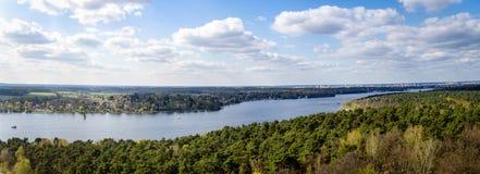 Πανόραμα της λίμνης κοντά στο Βερολίνο Στοκ φωτογραφία με δικαίωμα ελεύθερης χρήσης