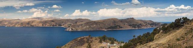 Πανόραμα της λίμνης Titicaca στοκ εικόνες με δικαίωμα ελεύθερης χρήσης