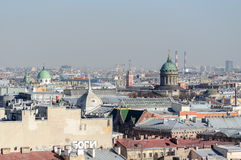 Πανόραμα της Αγία Πετρούπολης από την πανοραμική θέα Στοκ φωτογραφίες με δικαίωμα ελεύθερης χρήσης