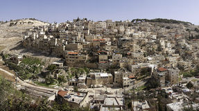 Πανόραμα της ανατολικής Ιερουσαλήμ Στοκ Φωτογραφία