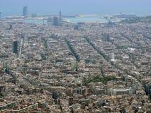 Πανόραμα της Βαρκελώνης από το βουνό Tibidabo Στοκ Φωτογραφίες