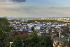 Πανόραμα της Βουδαπέστης Άποψη από τον προμαχώνα του ψαρά Στοκ εικόνα με δικαίωμα ελεύθερης χρήσης