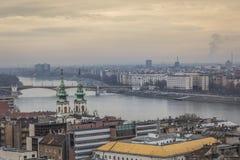 Πανόραμα της Βουδαπέστης - η πρωτεύουσα της Ουγγαρίας Στοκ φωτογραφία με δικαίωμα ελεύθερης χρήσης