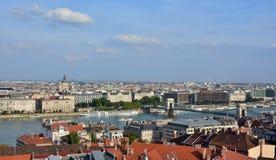 Πανόραμα της Βουδαπέστης και Δούναβη Στοκ Φωτογραφίες
