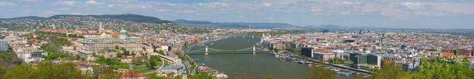 Πανόραμα της Βουδαπέστης σε μια νεφελώδη ημέρα Στοκ εικόνα με δικαίωμα ελεύθερης χρήσης
