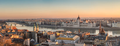 πανόραμα της Βουδαπέστης &O Στοκ φωτογραφία με δικαίωμα ελεύθερης χρήσης