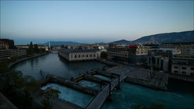 Πανόραμα της Γενεύης timelapse απόθεμα βίντεο