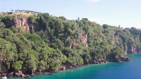 Πανόραμα της δύσκολης τροπικής ακτής Kingstown, Άγιος Vincent και Γρεναδίνες φιλμ μικρού μήκους