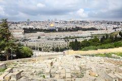 Πανόραμα της Ιερουσαλήμ Στοκ εικόνα με δικαίωμα ελεύθερης χρήσης