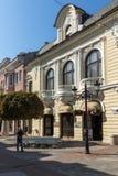 Πανόραμα της κεντρικής οδού Knyaz Αλέξανδρος Ι στην πόλη Plovdiv, Βουλγαρία Στοκ Φωτογραφία