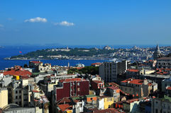 πανόραμα της Κωνσταντινούπολης Στοκ εικόνες με δικαίωμα ελεύθερης χρήσης