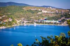 Πανόραμα της λίμνης Abrau, Ρωσία Στοκ Φωτογραφίες